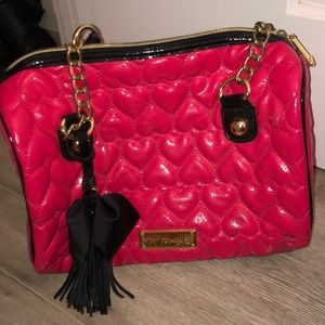 Betsey Johnson Y2K Quilted Heart Bag